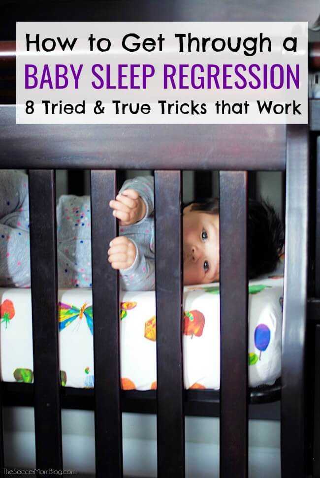 How to get through a baby sleep regression, with 8 tried and true tricks that work! (From a mom of 3).
