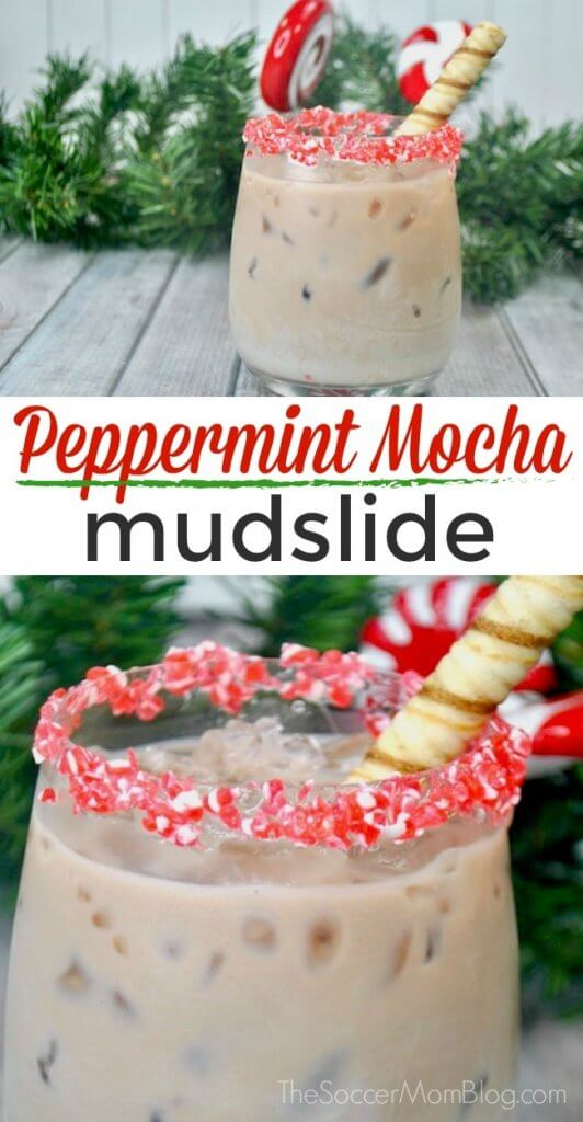If you love Starbucks Peppermint Mocha the you will LOVE this Peppermint Mocha Mudslide! The BEST Christmas cocktail recipe!