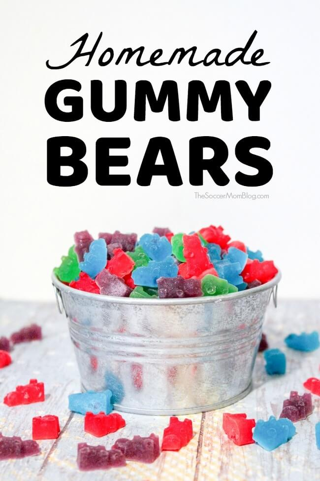 These delicious Homemade Gummy Bears are the perfect homemade candy treat!