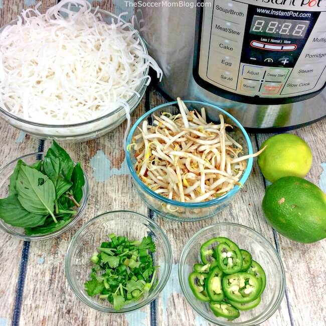 beef pho ingredients and Instant Pot