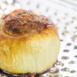 "Keto Stuffed Onion Bombs are overflowing with delicious meat and cheese — can you believe you can eat something so amazing on a ""diet""?!"