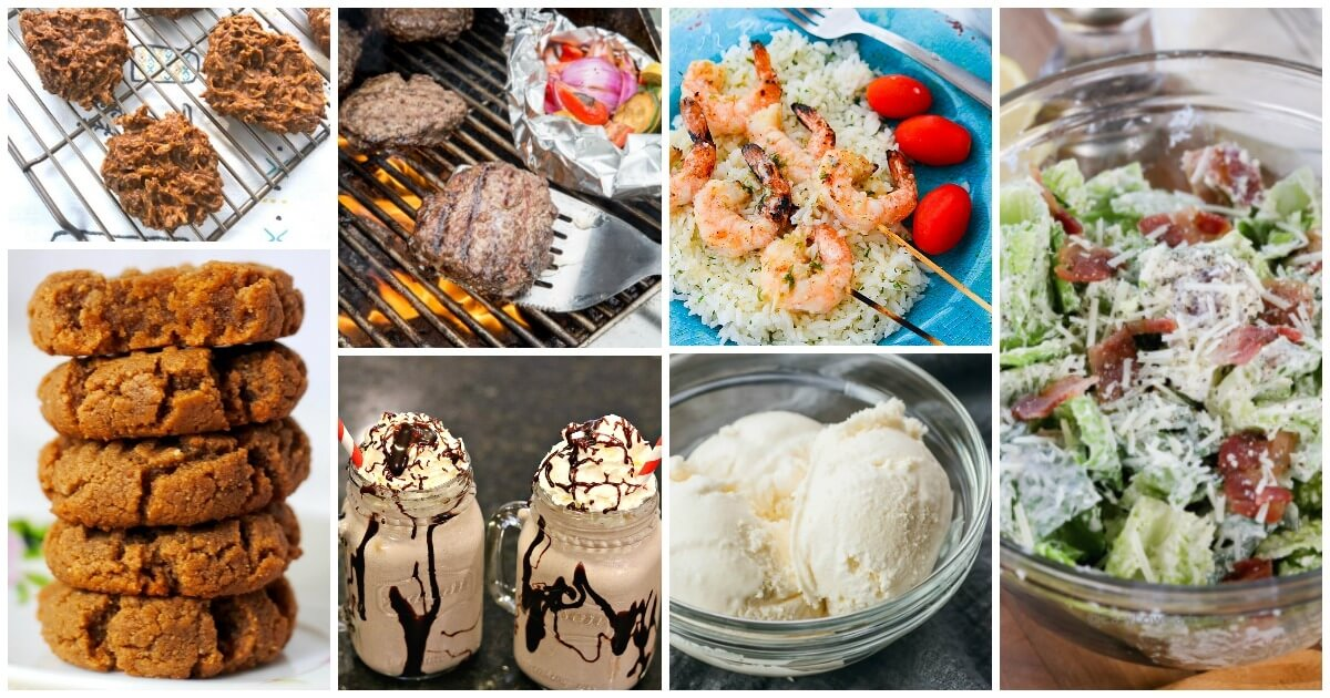 Over 50 easy keto recipes that will keep you on track all month long — from breakfast to dinner to dessert! Bookmark this page for new recipes added often!