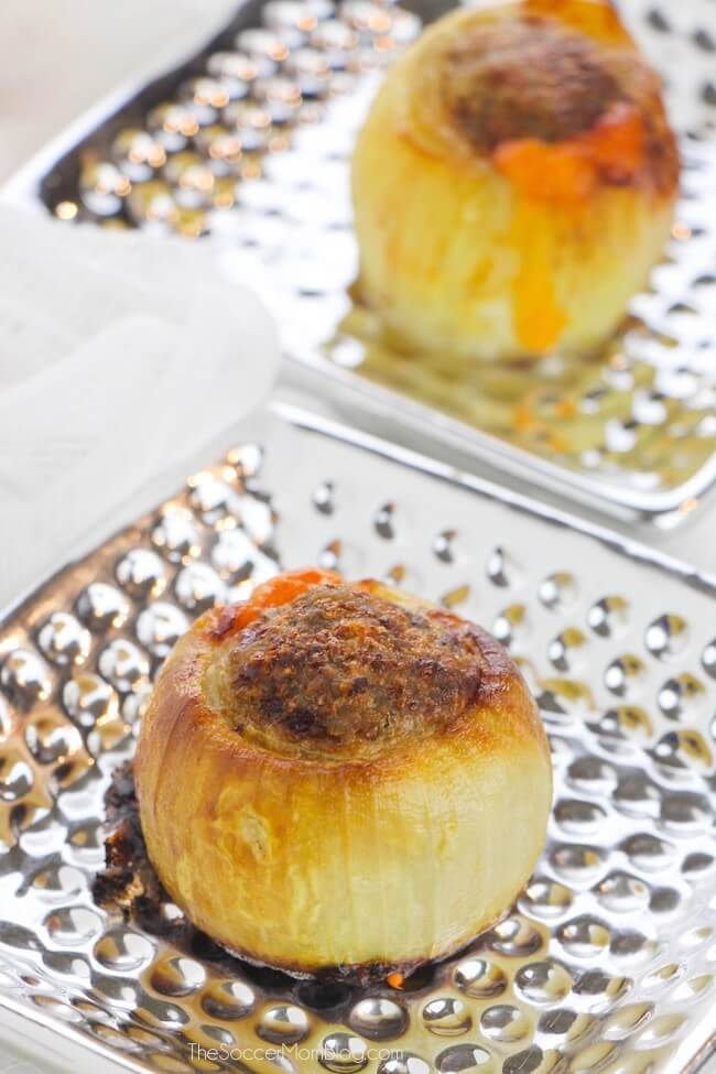 How to make Keto stuffed onion bombs