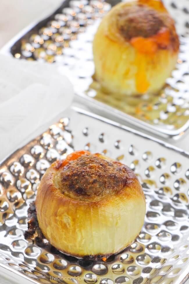 How to make Keto stuffed onion bombs