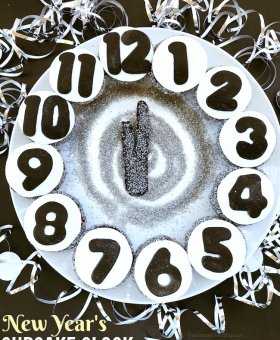New Year's Eve Cupcakes Clock