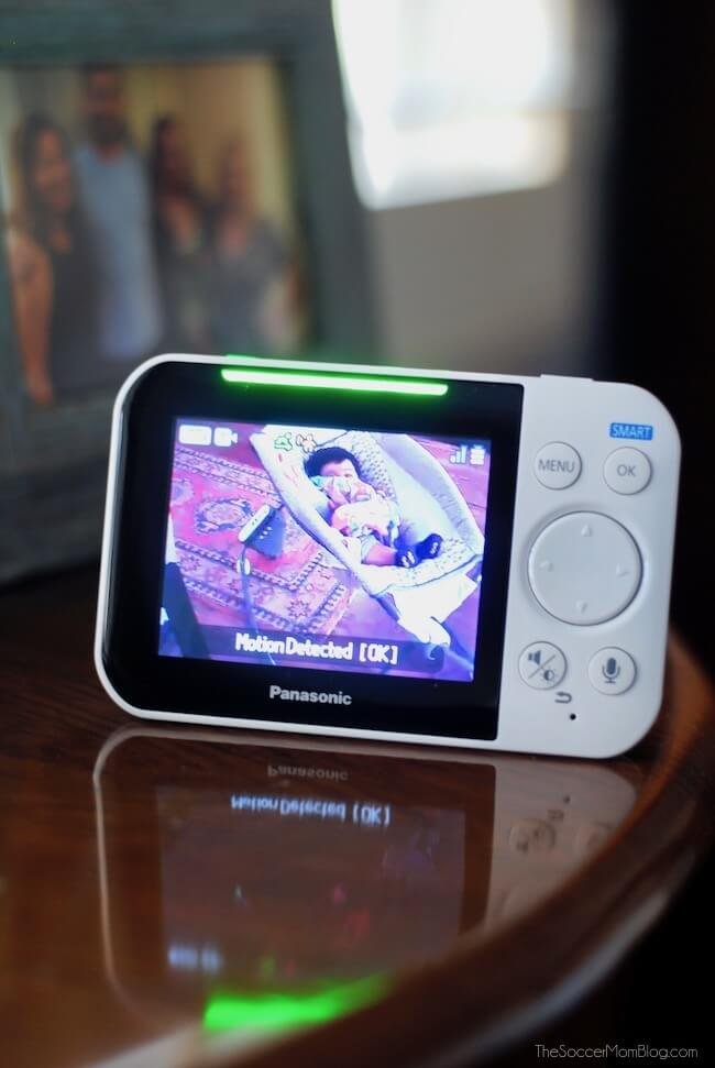 Panasonic video baby monitor for peace of mind while baby naps
