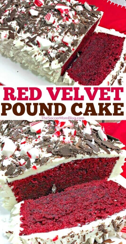 This rich, moist red velvet pound cake is unbelievably decadent and the perfect festive holiday dessert!