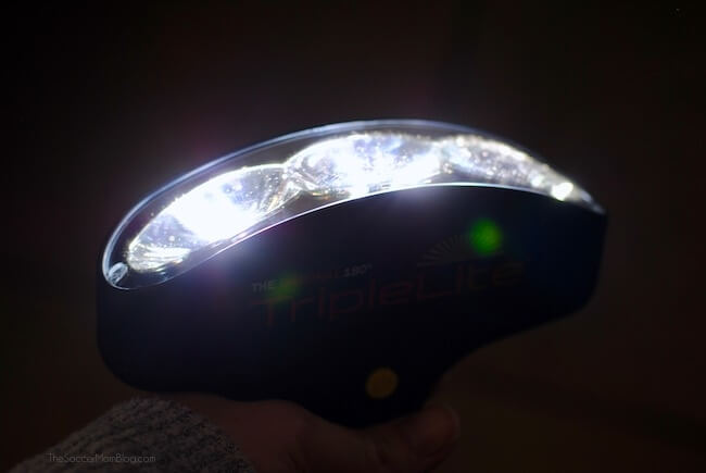 TripleLite flashlight with 180 degree visibility