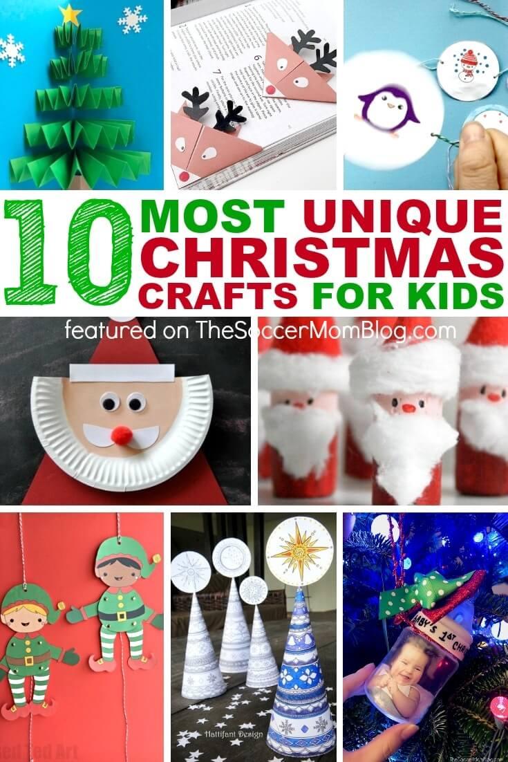 10 Super Unique Kids Christmas Crafts The Soccer Mom Blog