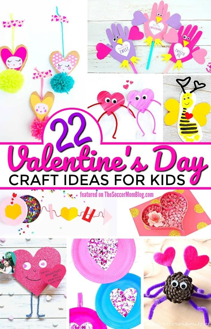 A BIG collection of easy Valentine's Day Crafts for Kids that they really can make! Only simple supplies needed, but they'll make adorable keepsakes for years to come!