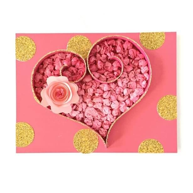 tissue paper heart craft