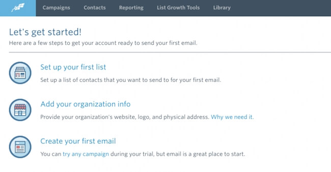 Start an email list with Constant Contact
