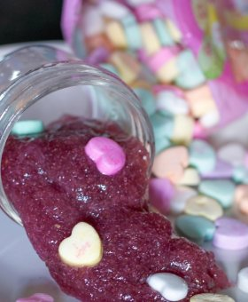Edible Valentine's Day Conversation Heart Slime (Video)