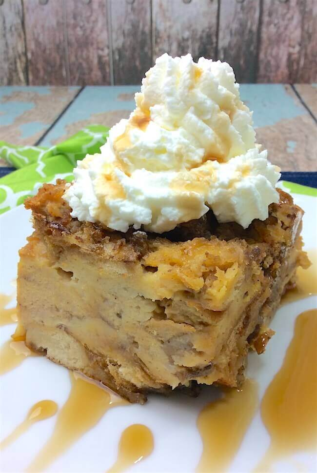crockpot bread pudding from In The Kids Kitchen