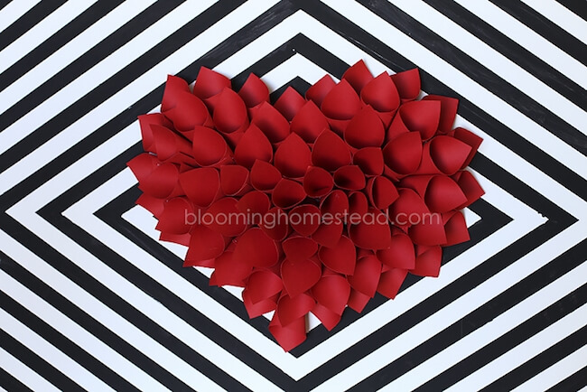 paper heart craft
