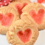 Whether you're making them with the kiddos or for your sweetheart, these Gummy Bear Heart Cookies are a cute and delicious Valentine's Day treat!