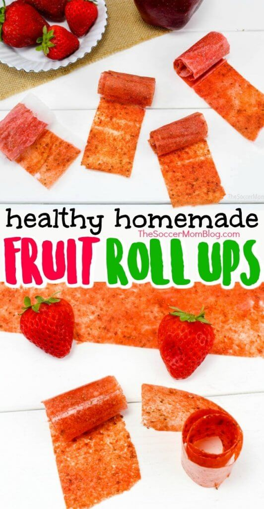 A snack you can feel good about serving your kids! These homemade fruit roll ups are made with real fruit and fun to make! Click for video recipe!
