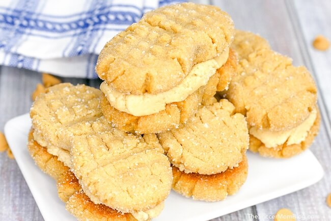 homemade nutter butter cookies on plate