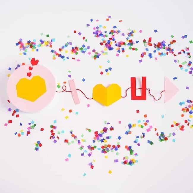 Valentine confetti box