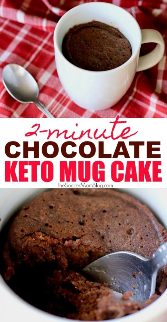 This Keto Chocolate Mug Cake will totally satisfy your sweet tooth and is ready in 2 minutes!