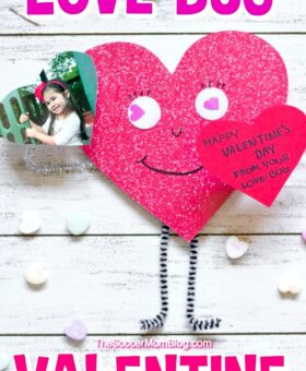 3D Love Bug Valentine Craft