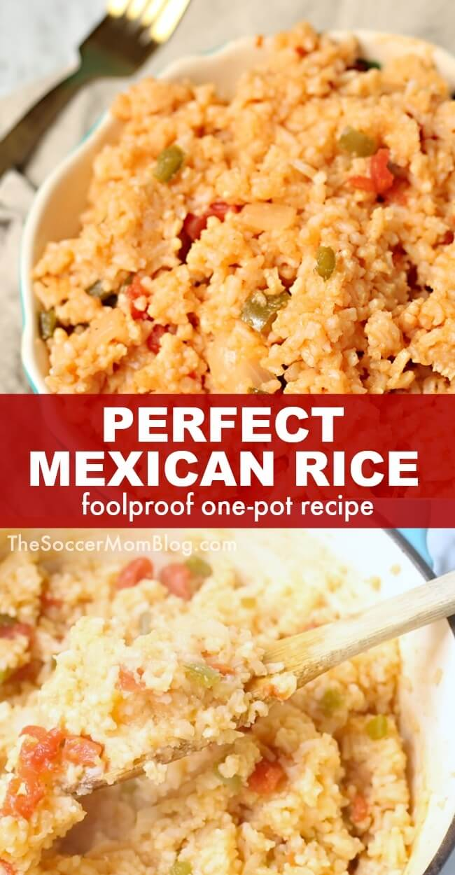 Our authentic Mexican Rice recipe - passed down through generations - is an easy one pot meal that pairs amazingly with all of your favorite comfort foods! Click for video tutorial!