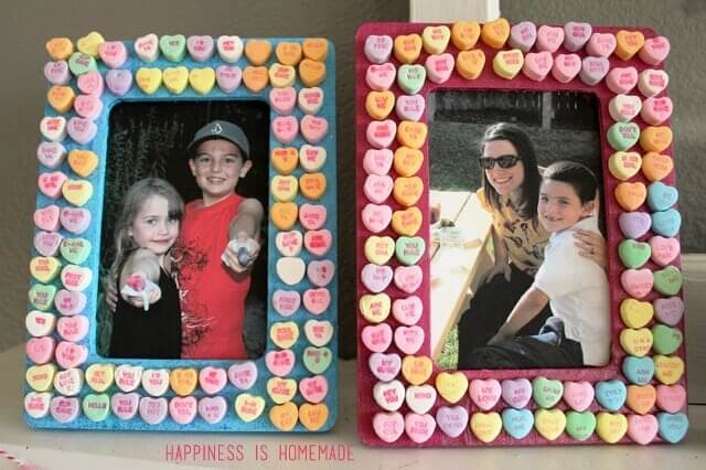 conversation heart photo frames