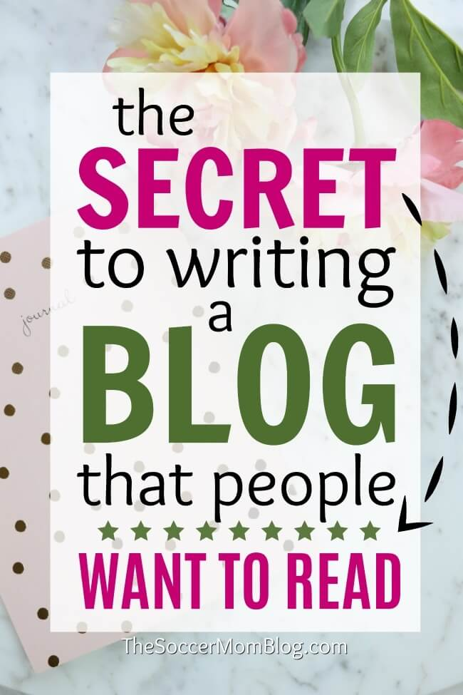 Whether you're new to blogging or have been at it for a while, this is the post you need to read! Learn the secret to writing a blog people WANT to read!