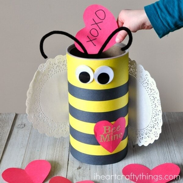 bee mine valentine box craft for kids