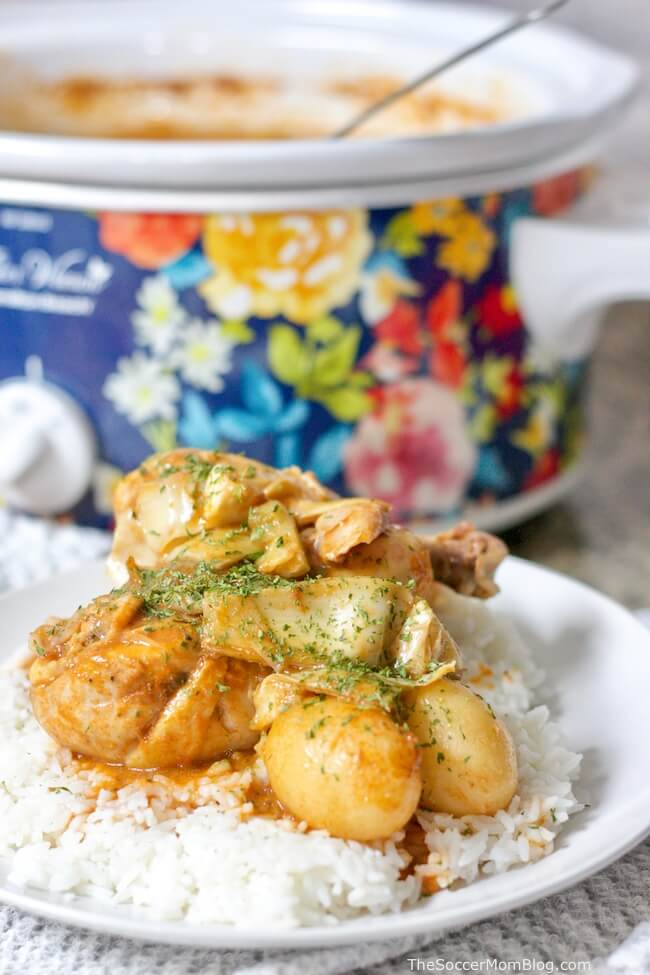 Tender, fall-off-the-bone Slow Cooker Italian Chicken is a hearty and wholesome dish that the whole family will love — and it only takes minutes to prep!