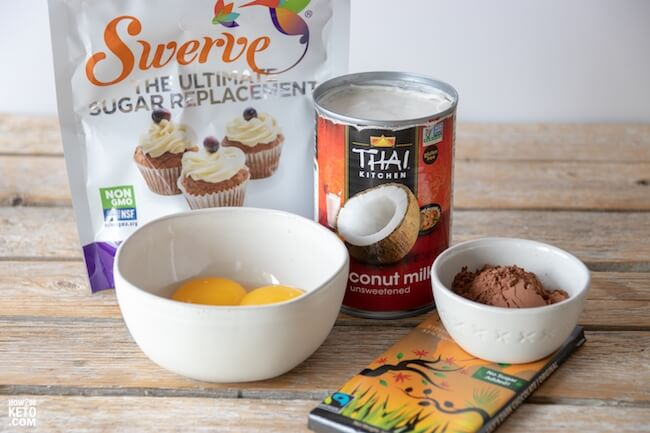 ingredients used to make keto chocolate mousse