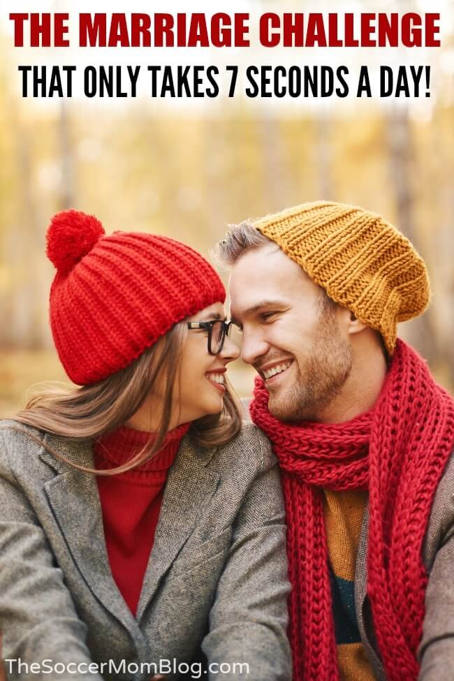 Psychologists say that for a healthier relationship, you should kiss your spouse for 7 seconds a day. Keep reading for a marriage challenge that anyone can do, with instant results!