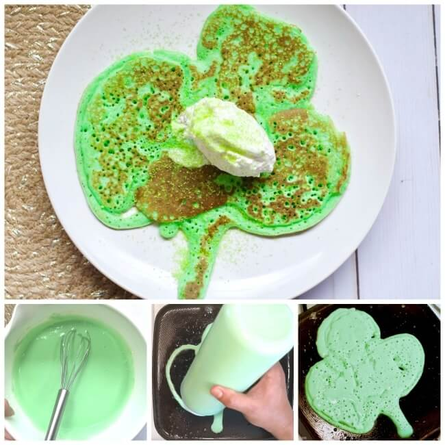 How to make easy shamrock pancakes for St. Patrick's Day