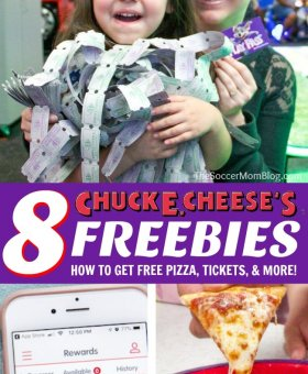 8 Things You Can Get FREE at Chuck E. Cheese's: Pizza, Tickets, & More!