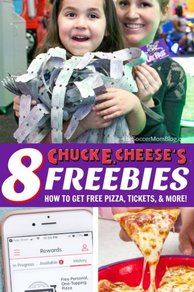 Insider secrets to get lots of funChuck E. Cheese's freebies— free pizza, free tickets, and more!