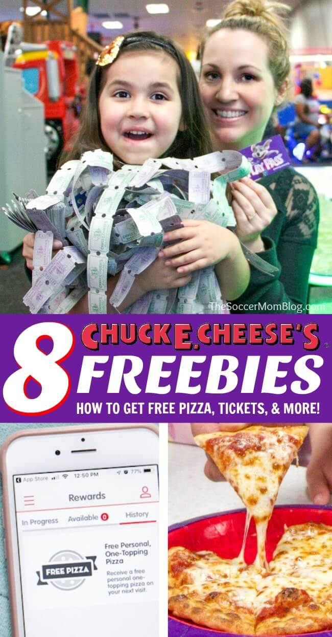 Insider secrets to get lots of fun Chuck E. Cheese's freebies —  free pizza, free tickets, and more!