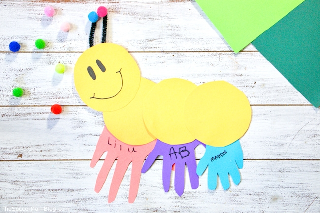 Handprint Caterpillar Craft The Soccer Mom Blog