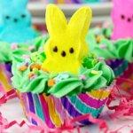 Peeps bunny cupcakes