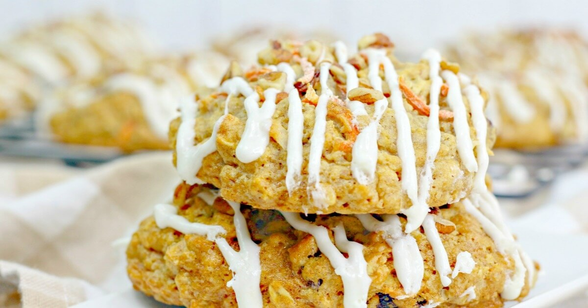 Carrot cake cookies made with oats
