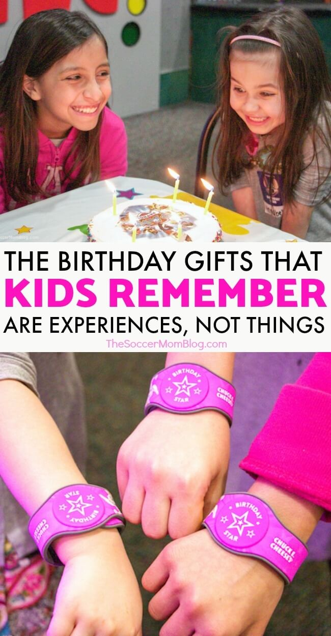 "Research shows that the best birthday gifts for kids aren't expensive toys or more ""stuff,"" but rather experiences that they'll remember for a lifetime."