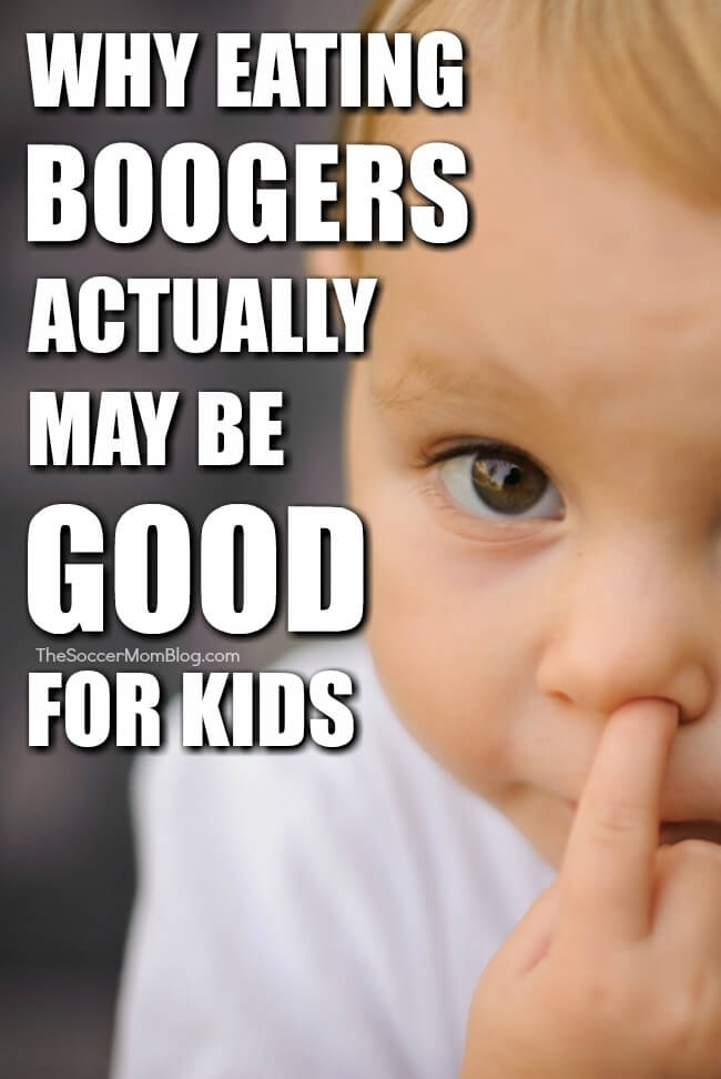 If you've caught your kids eating boogers from time to time, you might wonder: are boogers good for you? Here's what the experts have to say...