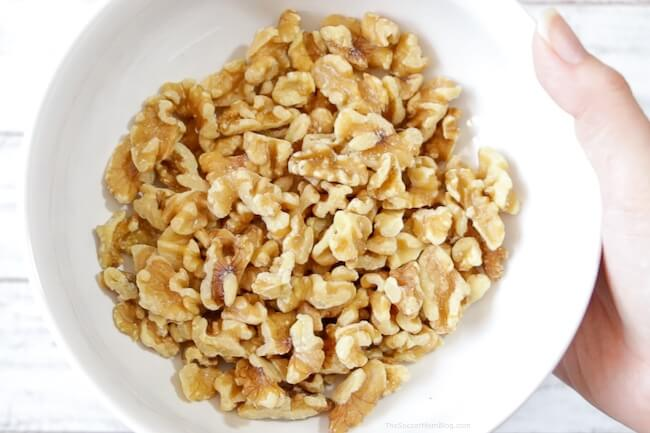 California walnuts in a white bowl