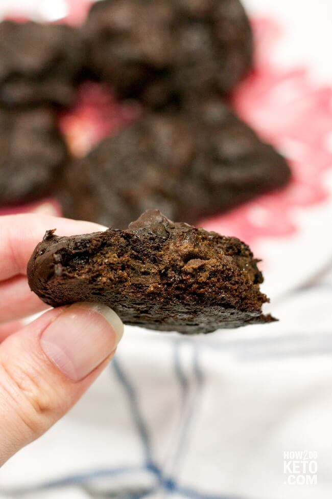 keto chocolate cookies - one of the BEST keto cookie recipes ever!