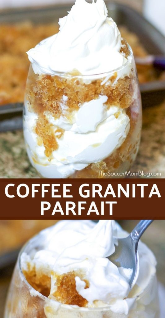 A coffee lover's dream!! With a texture like fluffy snow and boost of java, this Coffee Granita Parfait is the perfect pick-me-up! (Super easy too!)