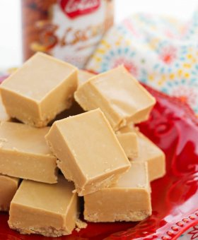 2 Ingredient Biscoff Fudge (Cookie Butter Fudge)