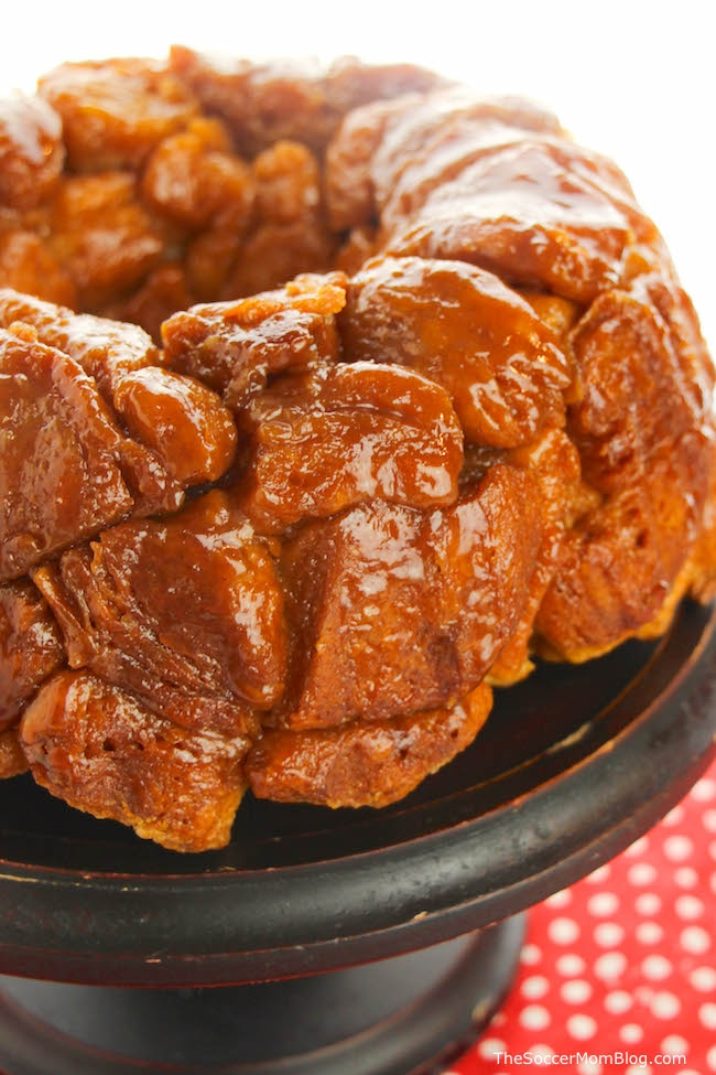 Just like mom made! This Microwave Monkey Bread Recipe makes a delicious pull-apart treat for the whole family!