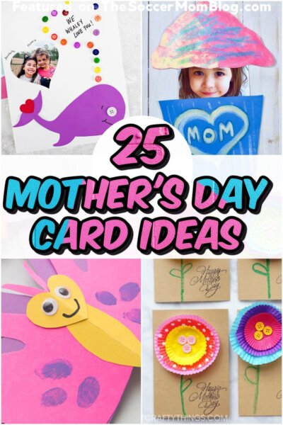 collage of kid made mother's day card ideas