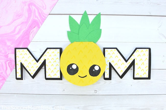 how to make a pineapple card for Mother's Day