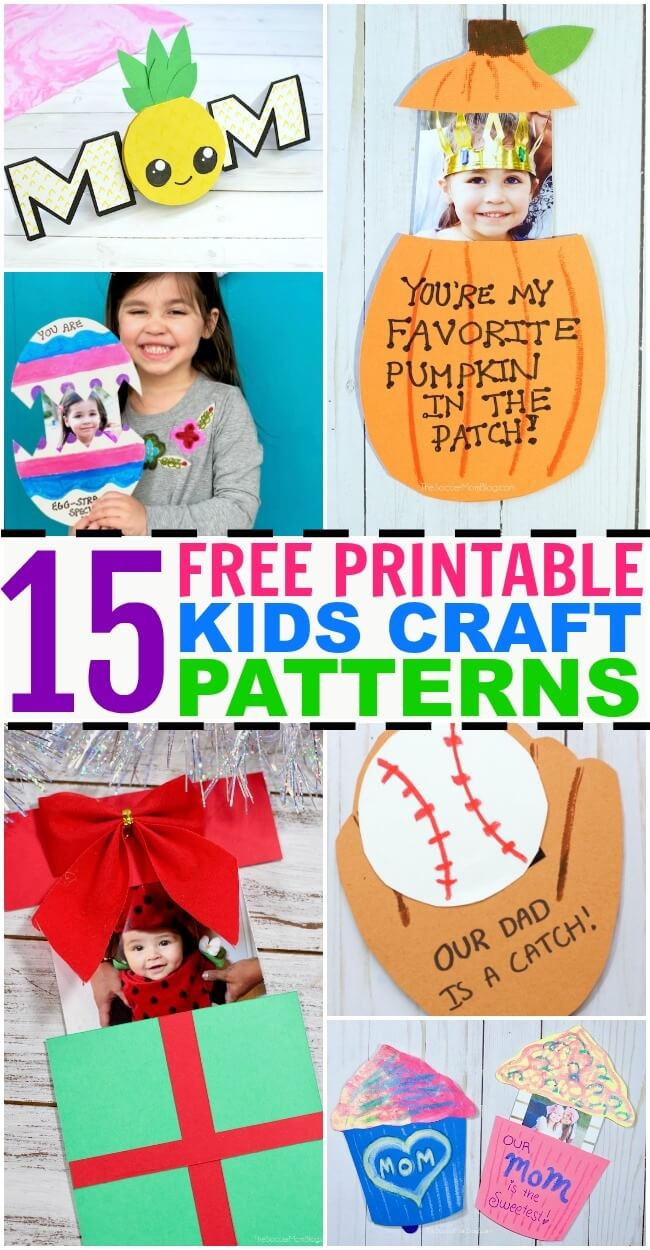 15 Free Printable Crafts And Activity Templates For Kids The
