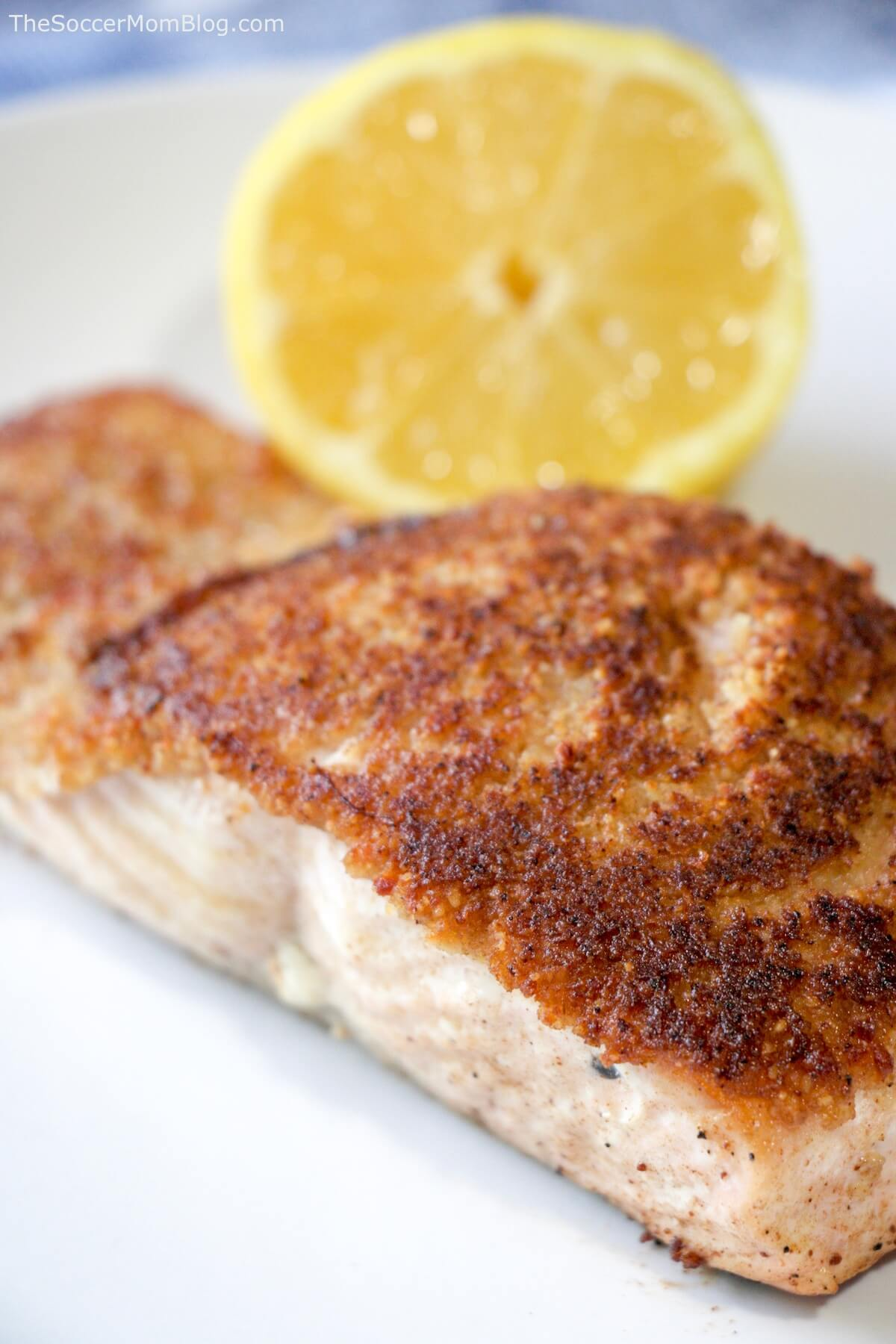 Delicious, nutritious, and ready in 30 minutes or less! This restaurant-quality Walnut Crusted Salmon is an easy meal perfect for busy weeknights and special occasions alike!